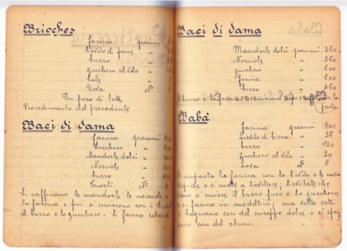 il quaderno delle ricette