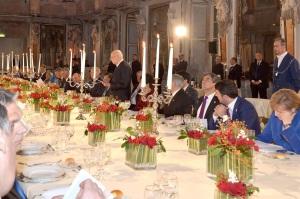 una cena di rappresentanza al Quirinale